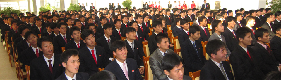 Students listening to lecture from Nobel Laureate